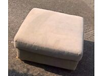 Large foot stool for lounge /den/ conservatory - re-upholstery project - Cheltenham