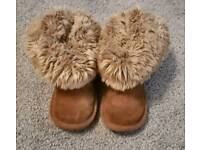 Next ugg style boots size 8 girls