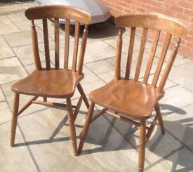 Wooden chairs X 2. Very sturdy, ideal for makeover.