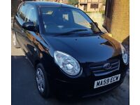 2009 Black Kia Picanto. Very reliable, economic, low insurance, would make great first car!