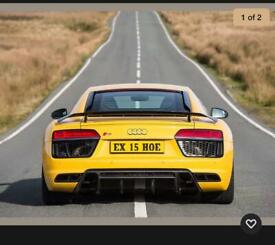 Private cherished Number Plate