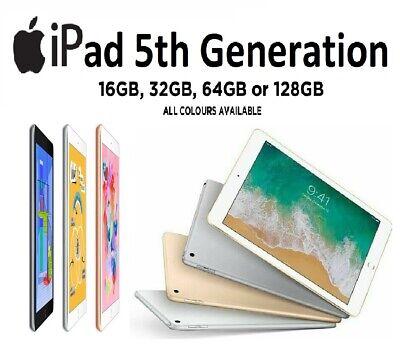 """Apple iPad 5th Generation 9.7"""" Retina Display 32GB / 128GB Wifi Tablet  A-Grade"""