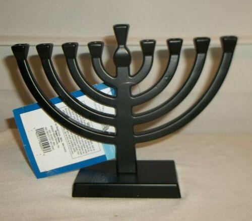 """Small Hanukkah Black Metal Menorah Hanukkah  6 x 7.5"""" NWTS!"""