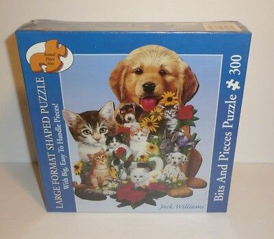 Cats and Dogs Best Friends Shaped Large 300 Piece Jigsaw Puzzle Kittens Puppies (Best Child Friendly Dogs)