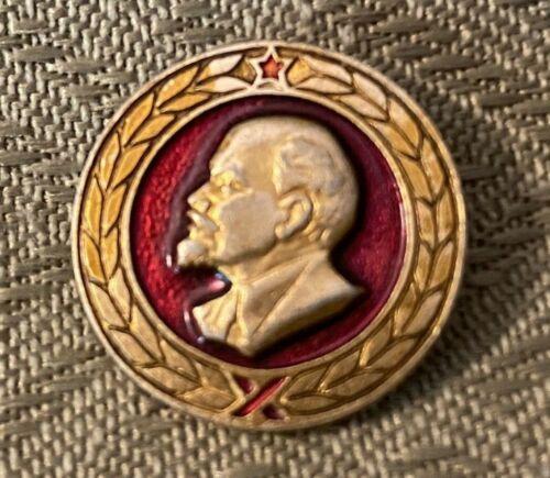 Lenin Communist Pinback - USSR Russian Memorabilia - Signed WOK