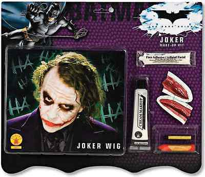 The Joker Wig & Makeup Kit Batman Dark Knight Clown Halloween Costume Accessory