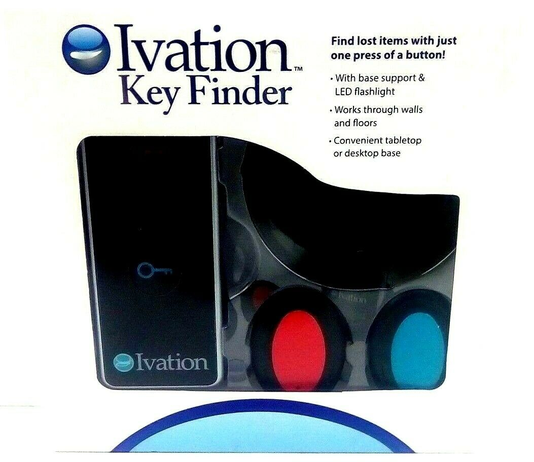 Ivation Dual Key Finder Keychain Find Lost Items 30M Range B
