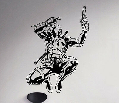 Deadpool Wall Decal Antihero Vinyl Sticker Marvel Comics Art Decor Ideas 67(nse)](Chalkboard Ideas)