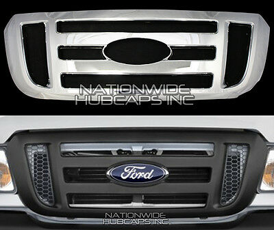 2006-2011 Ford Ranger CHROME Grille Snap On Insert Overlay Front Grill Cover NEW Chrome Plated Insert