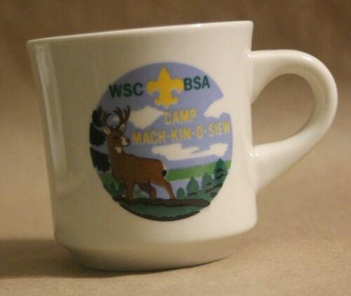 WSC BSA Mach-Kin-O Siew Des Plaines Valley Council Souvenir Ceramic Coffee Cup