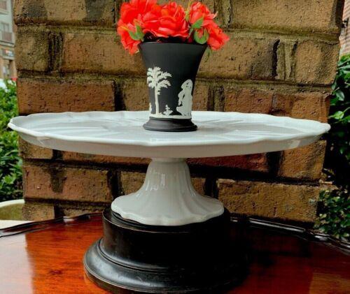 Last One!! Antique White Porcelain White Ironstone  Cake Plate Platter Dish