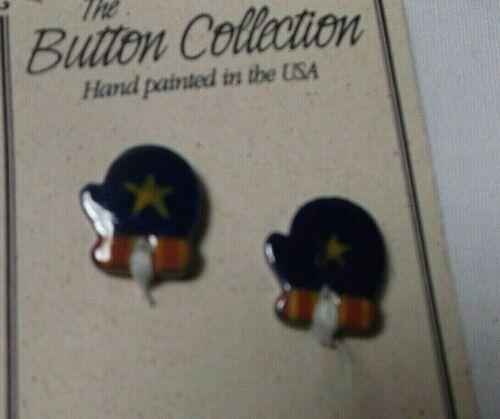 NEW Mill Hill Ceramic Button Set for Cross Stitch Petite  BLUE STAR MITTEN