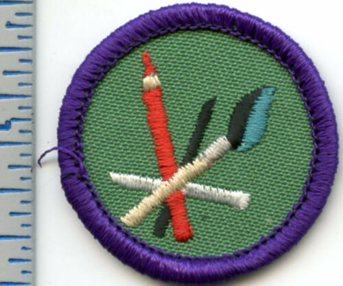 Vintage Girl Scout Badge - Drawing and Painting - 1990-1999 - retired
