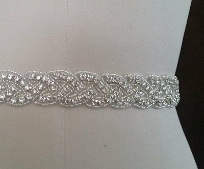 """Wedding Belt, Bridal Sash Belt - Crystal Sash Belt = 19"""" long"""