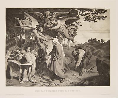 Joseph von Führich Wien Maria Engel Weihnachten Der Gang Mariae über das Gebirge