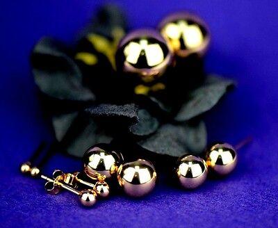 14K Yellow Gold Ball Stud Earrings   14k Yellow Gold Stud Earrings