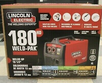 Lincoln Electric 180 Hd Amp Weld Pak Mig Wire Feed Welder 180hd K2515-1 New
