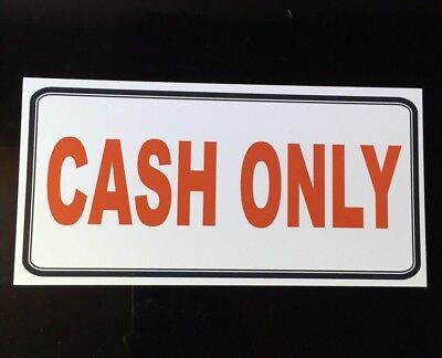 """CASH ONLY"" SHOP CAFE SIGN MAKE CUSTOMERS AWARE AROUND THE SHOP & AT THE TILL"