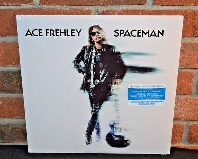 ACE FREHLEY - Spaceman, Ltd 1st Press 180G NEON BLUE VINYL LP + Poster Sealed!