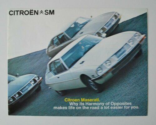 CITROEN MASERATI SM 1972 dealer brochure - English - North America