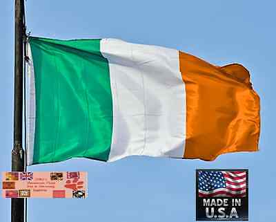 3x5 ft IRELAND IRISH Heavy Duty In/outdoor Super-Poly FLAG BANNER Flags*USA MADE