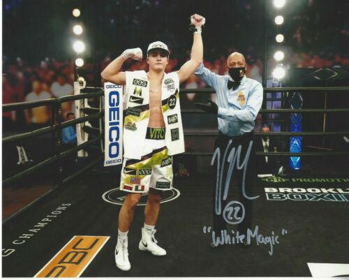 Great boxing prospect Vito Mielnicki Jr. autographed 8x10 ring photo Bonus
