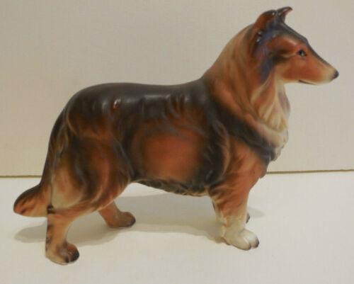 "Vintage Dog Figurine Collie Lassie  Japan 4 1/4"" x 5"" Great Condition!"