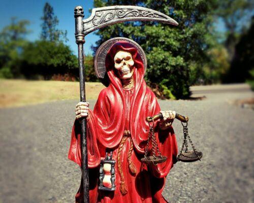 Santa Muerte Statue, Holy Death, Altar Piece, Reaper Deity