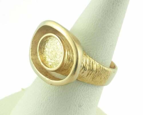 Adjustable Ring Bezel - Raw brass (17.5mm 7US inner size - Adjustable ) OZ3640