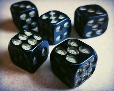5 Skull Dice Set, Death Dice, Oddities, Curiosities, Skulls, Halloween Games