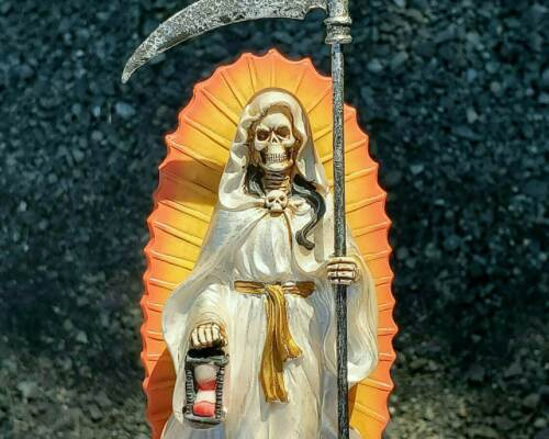 Santa Muerte Statue, Holy Death Altar Piece, Reaper Deity, Day of the Dead