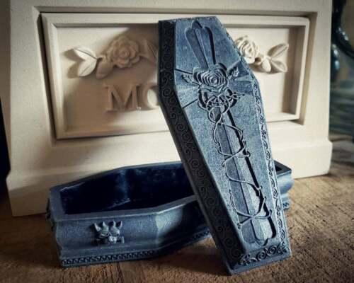 Gargoyle Coffin Jewelry Box, Casket Trinket Box, Gothic Decor, Oddities
