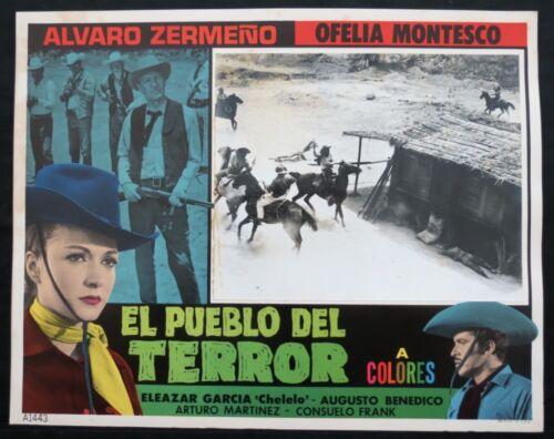 ALVARO ZERMENO Felipe Reyes Justiciero Vengador en Pueblo de Terror LOBBY CARD