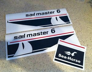 Johnson Sailmaster Outboard Motor Decal Kit 6 Hp 9 9 Free