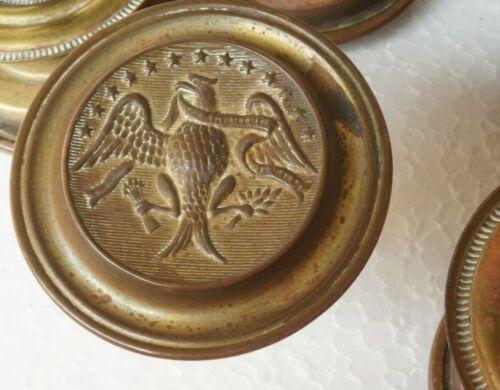 SET of 7 FEDERAL EAGLE & SHIELD 18th / 19TH CENTURY Period Original PULLS