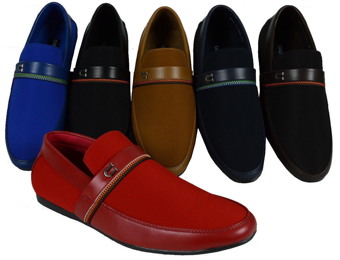 MEN'S GIOVANNI SHOES DRESS LOAFER CASUAL SLIP-ON FORMAL WEDD