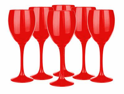 6 rote Weingläser 300ml Rotweingläser Weinkelch Rotweinkelche Weißweingläser