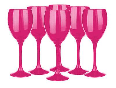 6 Weingläser 300ml Weinglas Rotweingläser Weißweingläser Weinkelche Pink