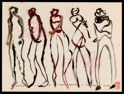 #16 Modern Art Figure Series ORIGINAL OIL PAINTING Bohemian Urban Beatnik (Modern Art Series)