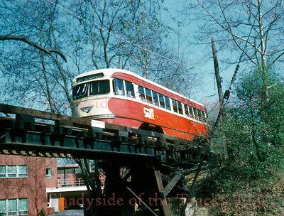Pittsburgh Railways PRCo PCC Streetcar #1161 Original Slide Mt. Lebanon