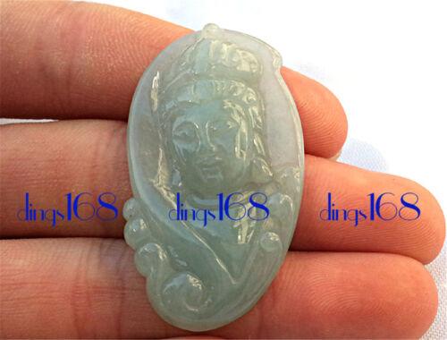 Chinese 100% Natural Jade Chalcedony Lovely Buddha Kwan Yin Goddess pendant JD10
