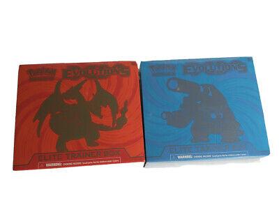 POKEMON TCG EVOLUTIONS XY MEGA CHARIZARD & BLASTOISE ELITE TRAINER BOXES