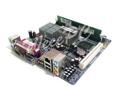 Foxconn 45CS Mini ITX Motherboard, Intel Atom 230 1.6GHz CPU,  1GB RAM, silent (Intel Atom Itx)