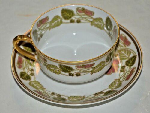 LIMOGES HAVILAND SCHLEIGER TEA CUP & SAUCER SET