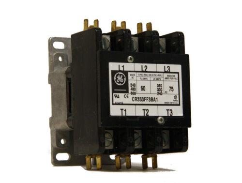 GE CR353FF3BA1 Contactor 110/120V 50/60Hz Coil 3 Pole New