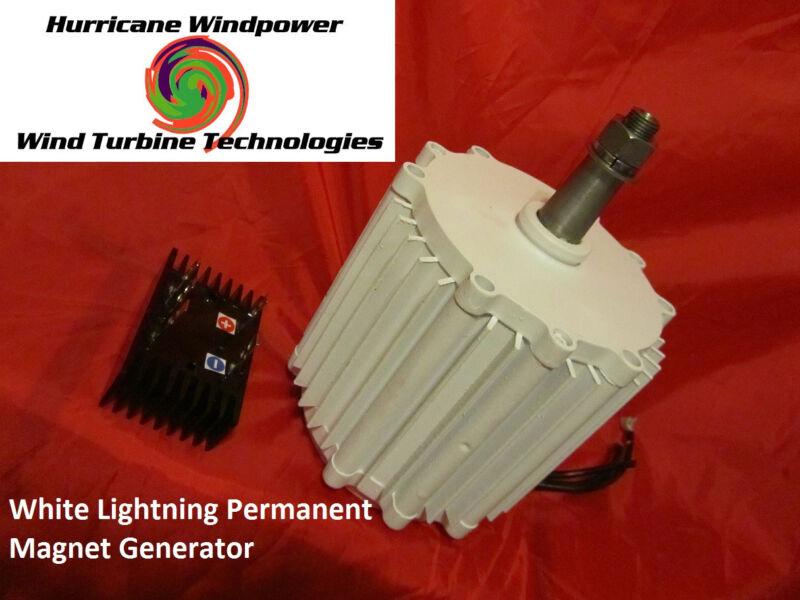 WIND GENERATOR WHITE LIGHTNING 48V 1000W PERMANENT MAGNET GENERATOR HURRICANE