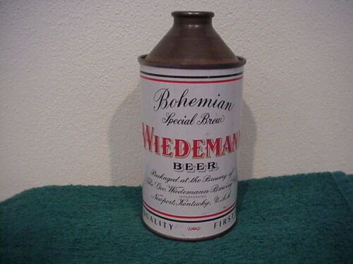 Wiedemann Beer - Cone Top Beer Can - Geo Wiedeman Brewing Pristine