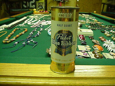 Pabst Blue Ribbon Beer Flat Top Beer Can NICE (air sealed)16 OZ