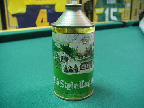 Old Style Lager Beer Can cone top - G. Heileman Brewing Co., LaCrosse, Wisconsin