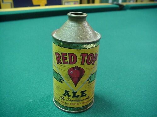Red Top Brewing Ale Cone Top Beer Can Cincinnati Ohio NICE